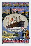 Vintage Travel Poster Atlantic Steamship, New York-London